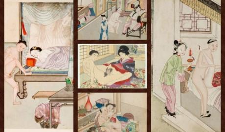 Acuarelas eróticas de la antigua China