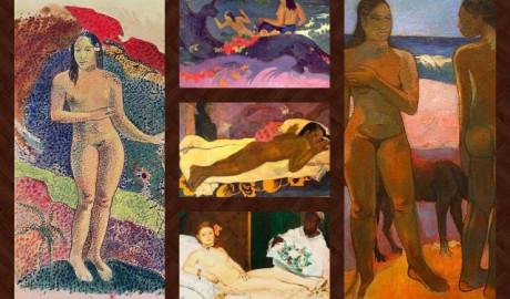 El arte de Paul Gauguin. Desnudos en blanco y negro